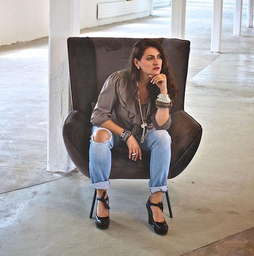 Künstlerin Sylvia Sobbek